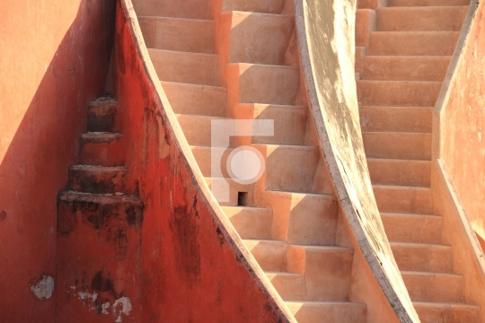 Abstract stairs in Jantar Mantar, New Delhi, India