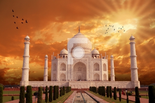 Beautiful Taj Mahal Architecture, India, Agra, Uttar Pradesh