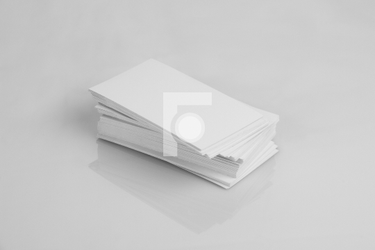 Blank White Business Card Mockup