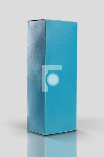 Blue Product Packaging Box for Mockups