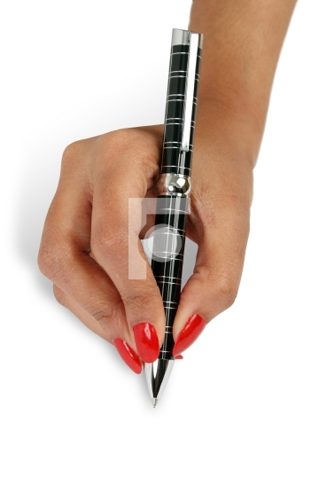 classy pen on a female