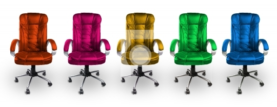 Colorful Office Chairs - Red, Pink, Yellow, Green and Blue