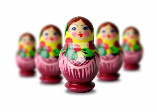 colorful russian dolls