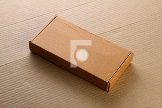 Corrugated Card Board Box / Carton for Mockup