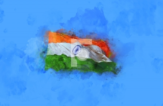 Creative India Flag Digital Painting - Free Stock Photo