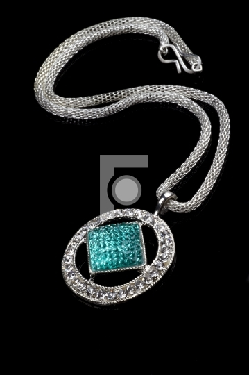Diamond Jewelry Pendant Necklace Royalty Free Stock Photo