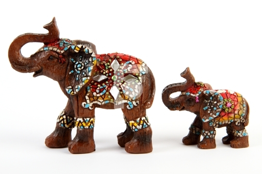 Elephant and baby elephant souvenir / decor