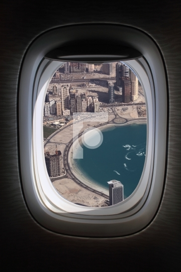 flying over dubai marina