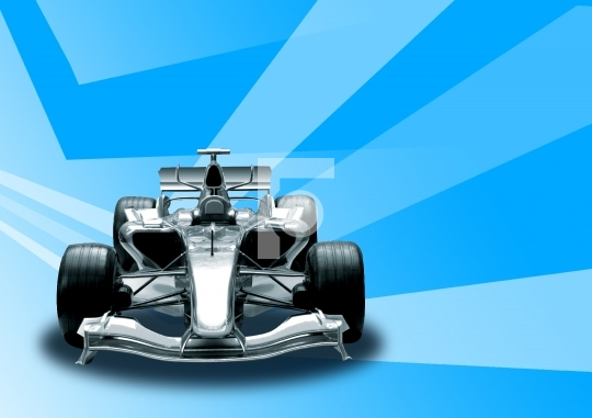Formula 1 Car in abstract background stock photo