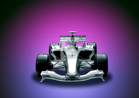 Formula 1 Car in colorful background stock photo