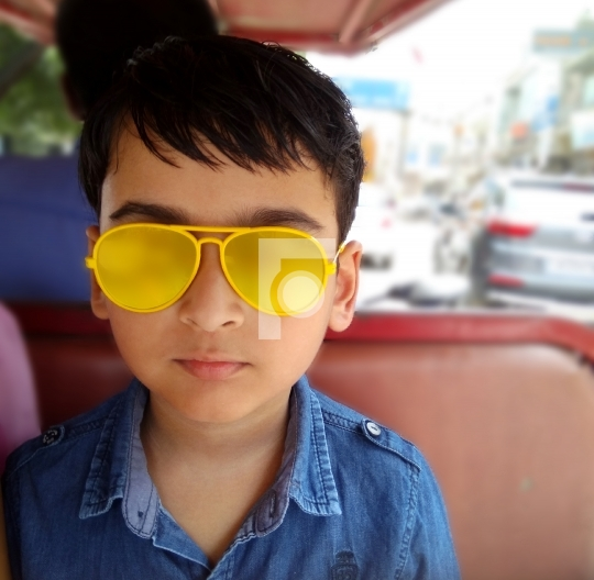 Free Stock Photo Indian Kid / Child with Sunglasses Outdoors