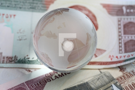 globe on iranian currency