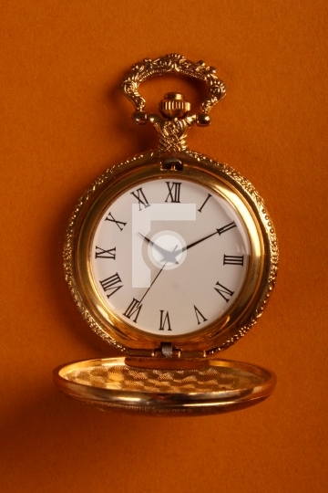 golden antique watch