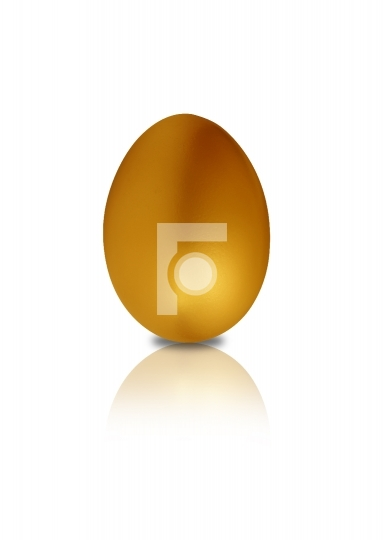 golden egg in white background