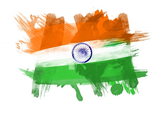 High Res. India Flag on White Background FREE Stock Photo