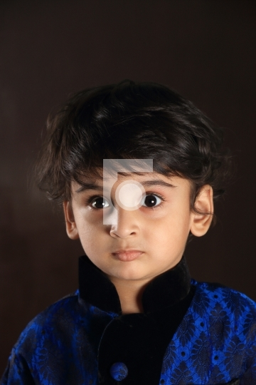 Indian Child Boy Kid Toddler Stock Photo