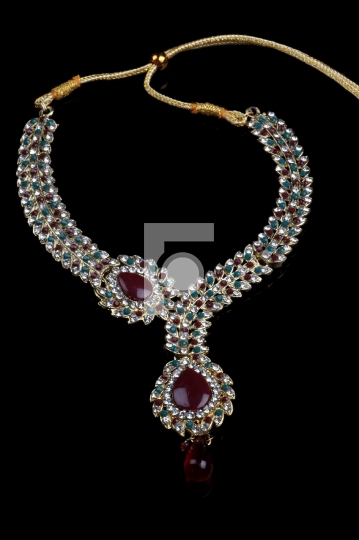 Indian Traditional Jewellery Necklace Stock Photo