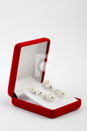 Jewellery Jewelry Box and Pearl Earrings