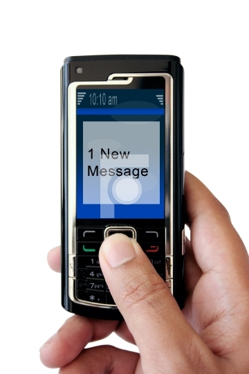 Mobile SMS / Message - 1 New Message