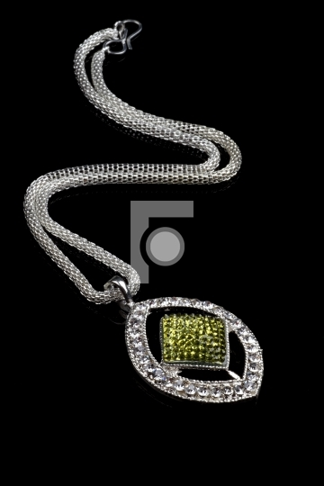 Modern Jewelry Pendant Necklace Royalty Free Stock Photo
