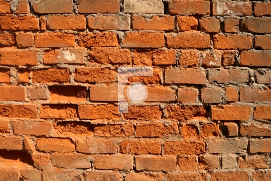 Old Broken Brick Construction Wall Background Texture