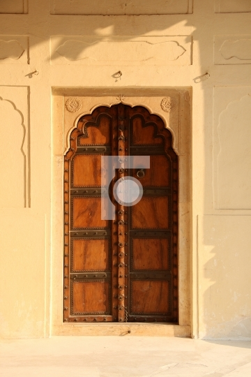 Old Style Indian Antique Door in a Fort
