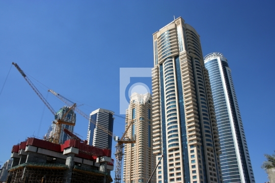 On going construction and high rise buildings