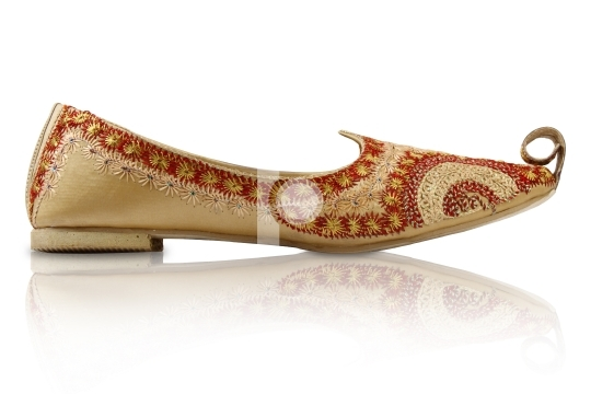 Pair of Traditional Handicraft indian shoes