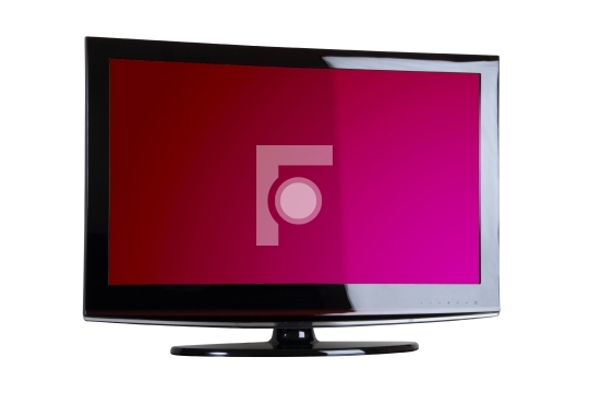 Plasma / LCD TV Front Shot Isolated on white background
