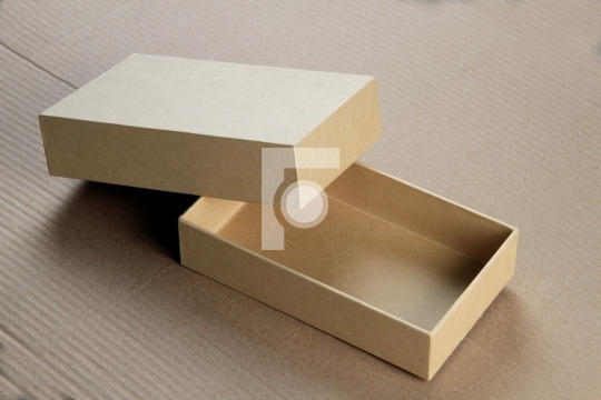 Recycle Blank Card Board Box for Mockup