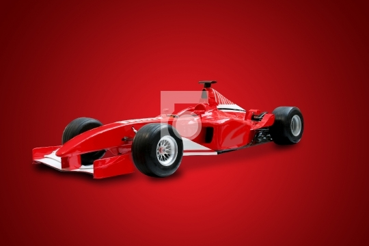 Red Formula One Car