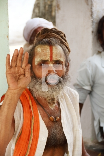 Sadhu / Indian Sage in Allahabad, Uttar Pradesh, India