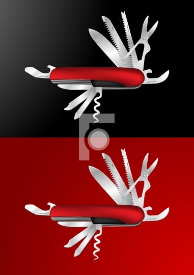 Swiss Army Knife  Illustration