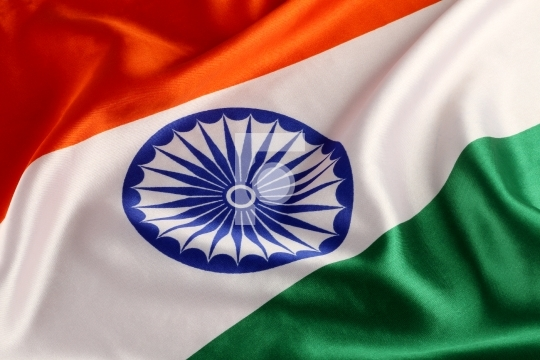 Tricolor Indian National Flag - Closeup