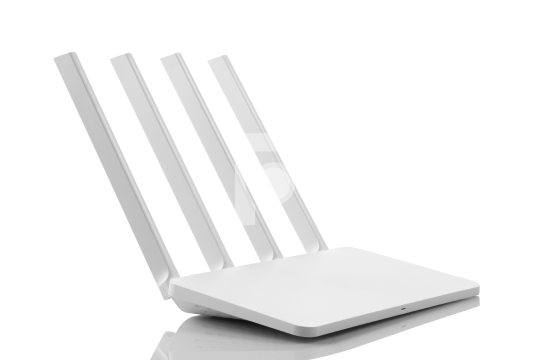 White Color Wireless WiFi Modem Router 4 Antenna