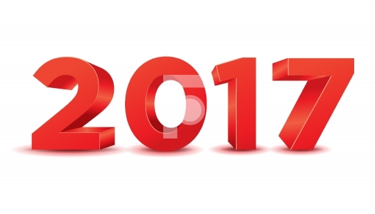 3D Happy New Year 2017 Vector Free Image / Photo