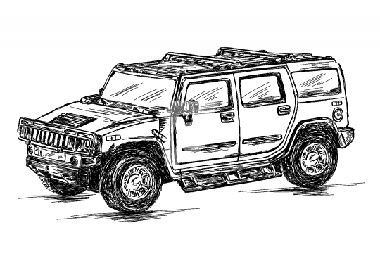 4x4 Sports Utility Vehicle SUV Vector Stock Illustration