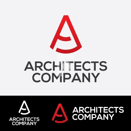 A Letter Logo - Architect Company Logo for Startup
