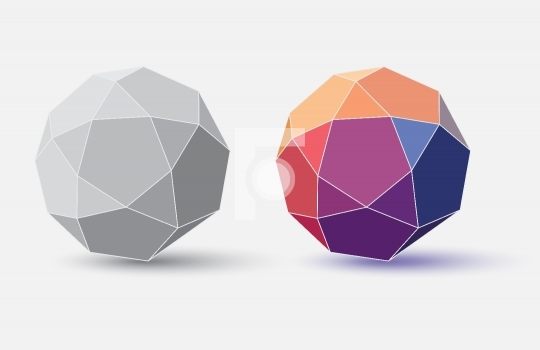 Abstract Colorful Sphere / Globe - Vector Illustration