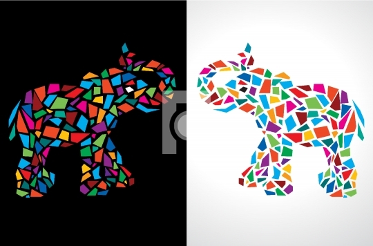 Abstract Elephant Vector Illustration