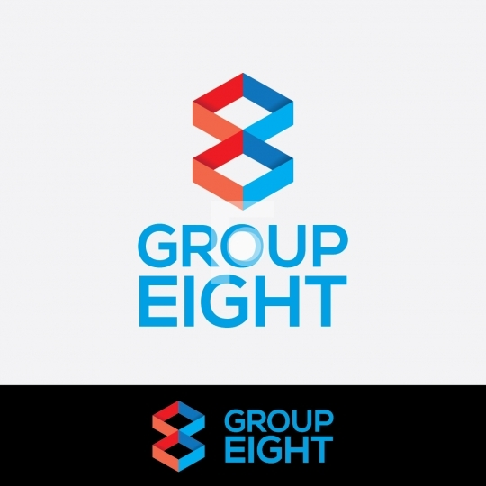 Abstract Group Eight 8 Logo - Readymade Company Logo Design