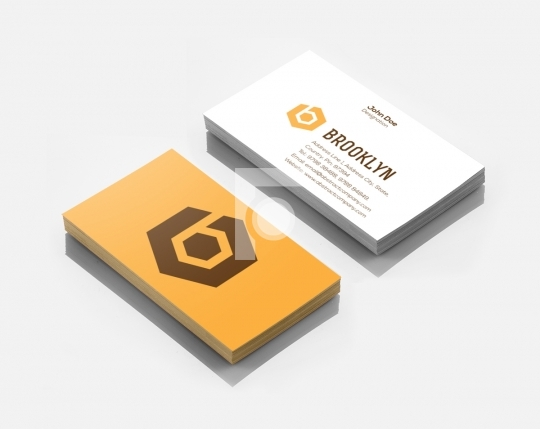 B Letter Brooklyn Logo Design & Business Card Template for Start