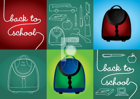 Back to school vector illustration