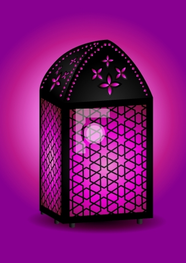 Beautiful islamic lantern for ramadan / eid