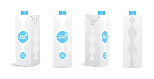 Blank Milk / Juice Carton Vector Illustrations for Mockup