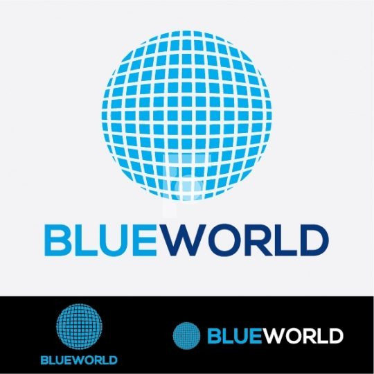 Blue World Globe Logo - Readymade Company Logo Design