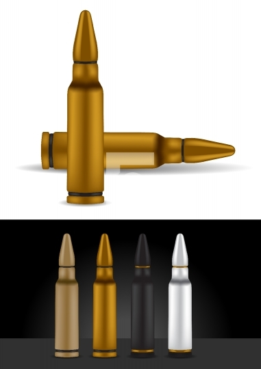Bullet in different colors - vector illustration
