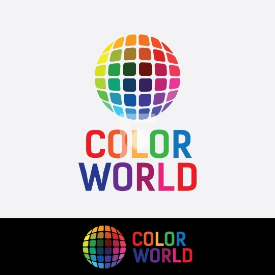 Color World Colorful Company Readymade Logo for Startups