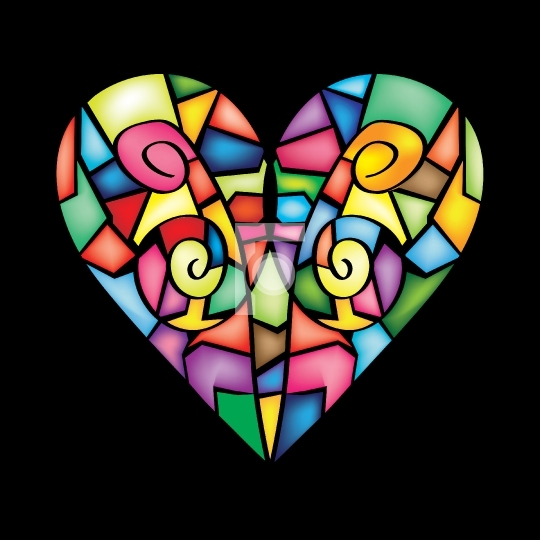 Colorful Abstract Heart - vector illustration