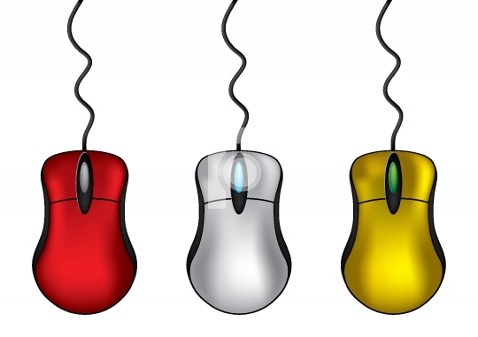 Computer Mouse in different colors - vector illustration